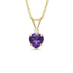 heart amethyst crystal pendent